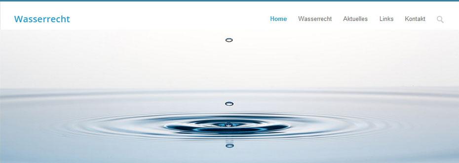 Website Erstellung: Wasserrecht.com gelauncht