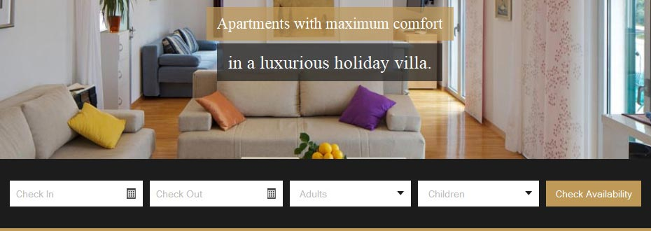 Neue Website für Apartments in Trogir