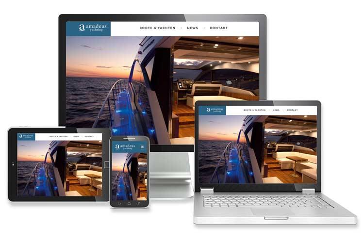 Website Erstellung von Böck & Partner für amadeus yachting