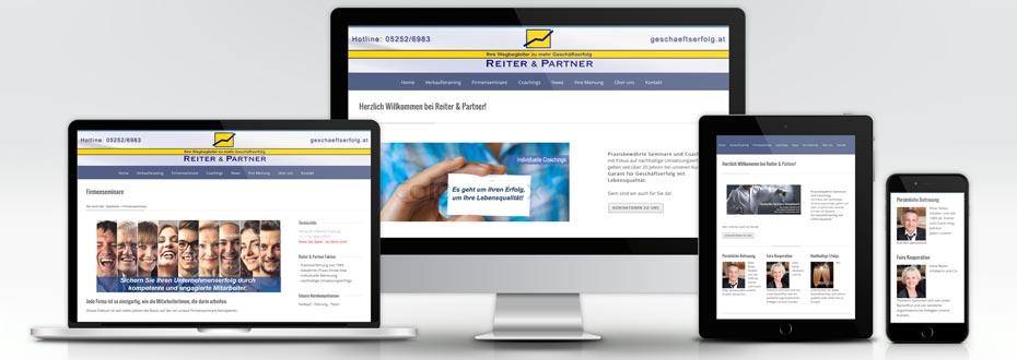 Website Erstellung für Reiter & Partner