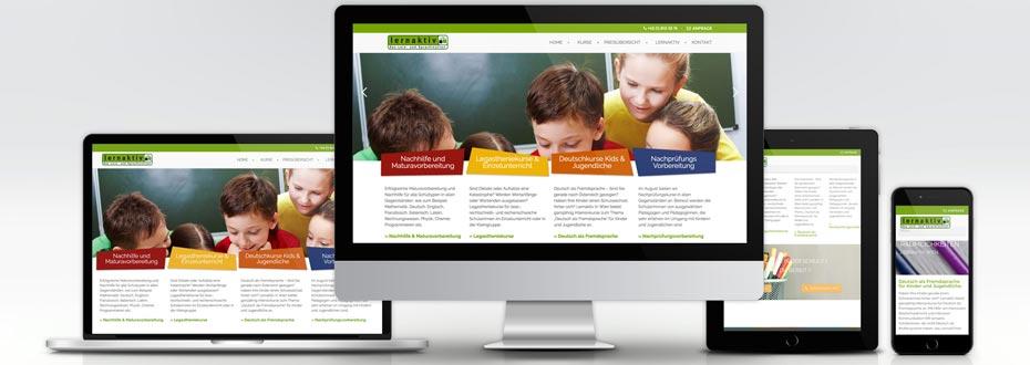 Neue Website für das Lern- und Sprachinstitut Lernaktiv