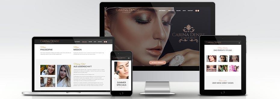 Makeup Artist Website für Carina Denise