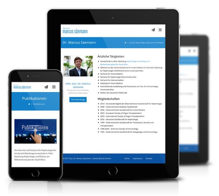 Mobile Website Erstellung für Prof. Marcus Säemann