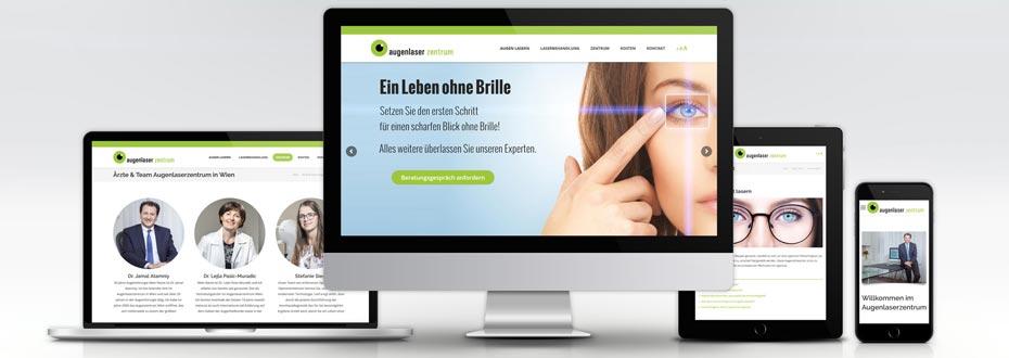 Neue Website für das Augenlaserzentrum