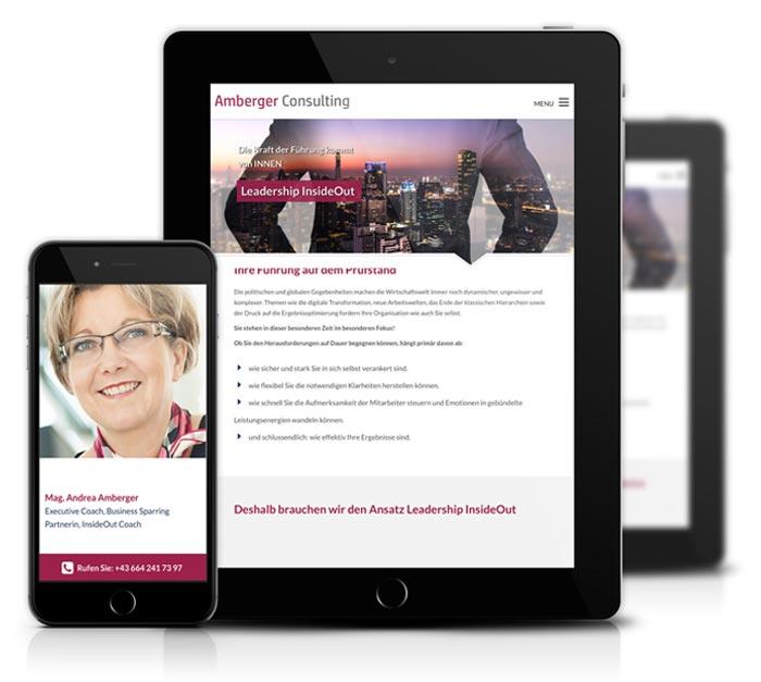Mobile Website Erstellung für Amberger