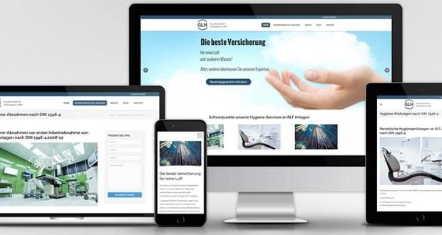 Webdesign und SEO für GLH Lufthygiene