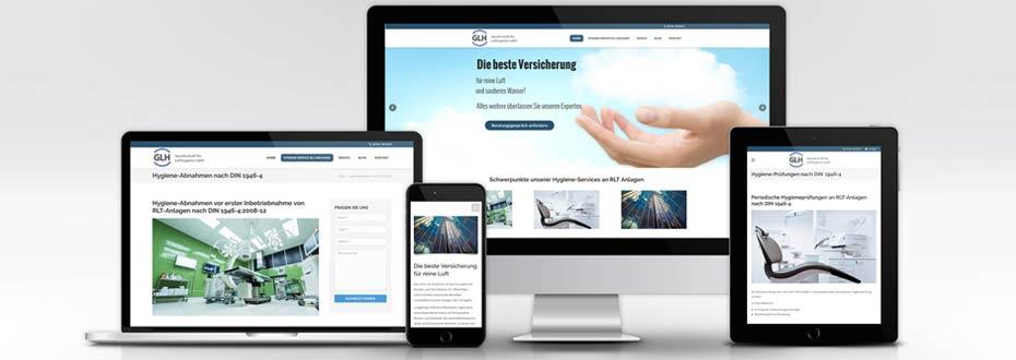 Neue Website für GLH Lufthygiene