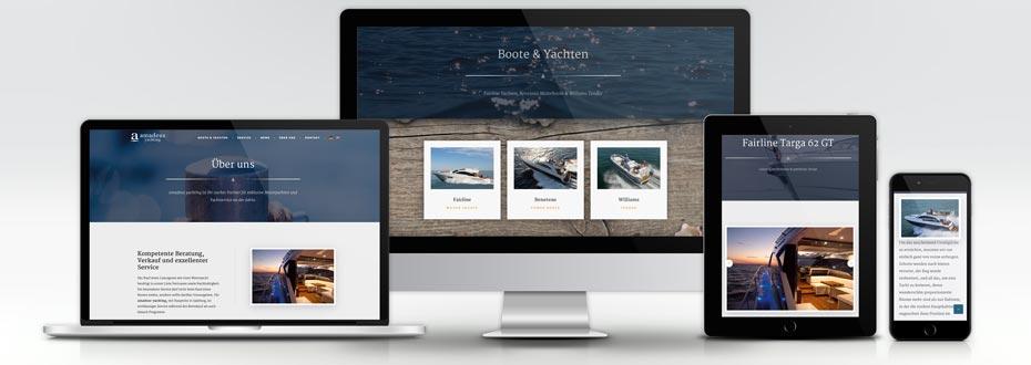 Website Erstellung Yachtanbieter