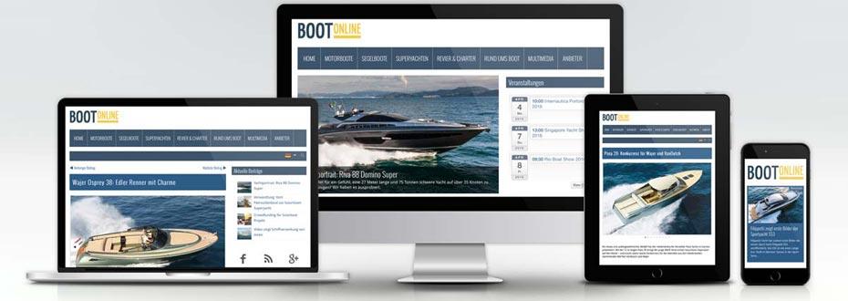 Online Magazin Portal BOOT Online