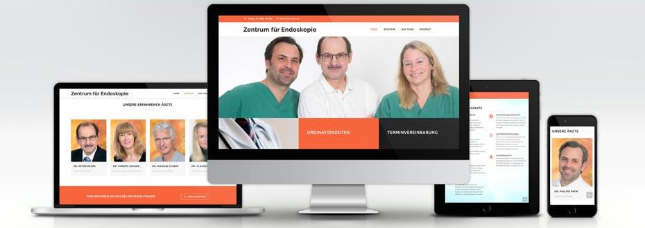 Website Erstellung Zentrum Endoskopie